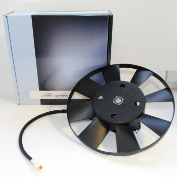 Вентилятор охлаждения Cartronic CRTR0089703 (с крыльчаткой 8-ми лопастной, с ободком. Ref.70.3730 /HW305)